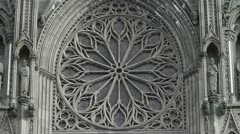 The famous rose window on the Nidaros cathedral Stock Footage