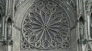 Stock Video Footage of The famous rose window on the Nidaros cathedral