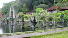 Tirta Gangga water palace on Bali, Indonesia Stock Footage