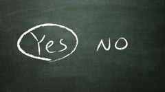 yes no selection - stock footage