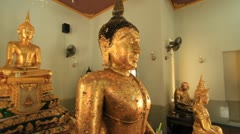 Buddha statue Stock Footage