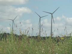 Windmill spin focus Stock Footage