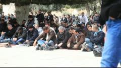 Friday prayers at Al Aqsa Mosque - Jerusalem Stock Footage