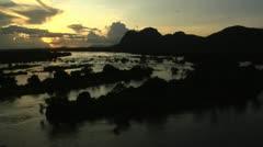 Niassa Reserve Lugenda River Sunset Stock Footage