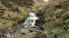 Waterfall in the Peak District, UK Stock Footage