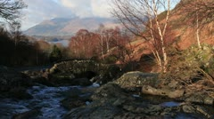 Classic view in the English Lake District Stock Footage