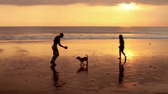 Couple at sunset Stock Footage