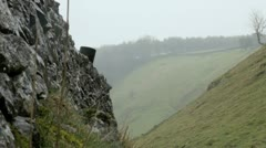 The Peak District on a Wet Day, UK Stock Footage