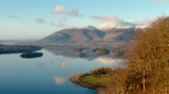 Classic view of English Lake District Stock Footage