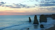 Stock Video Footage of Twelve Apostles, time-lapse, after sunset