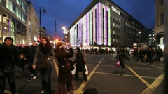 Oxford Street Shopping Stock Footage