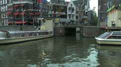 Amsterdam Canals Stock Footage