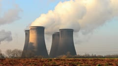 Cooling towers Stock Footage