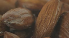 almonds close-up - stock footage