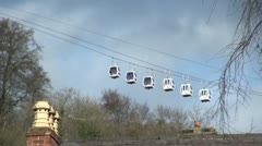 Cable Cars in Matlock Bath, UK Stock Footage