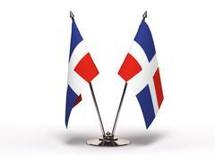 Miniatyyri lippu Dominikaaninen tasavalta (eristetty) Kuvituskuvat