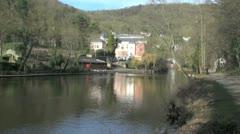 River Derwent in Matlock Bath, UK Stock Footage