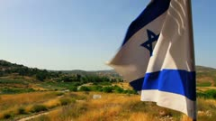 Epic View of Israeli Flag Stock Footage