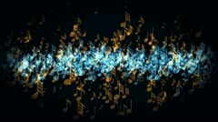 Music waveform Stock Footage