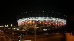 Stadium for Euro 2012 Stock Footage
