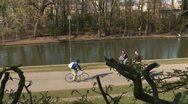 Urban park Stock Footage