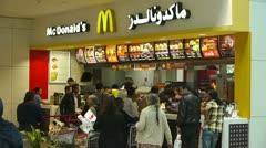 McDonald's restaurant in Dubai Stock Footage