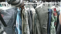 Clothing shop Stock Footage