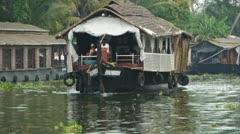 Houseboat - stock footage