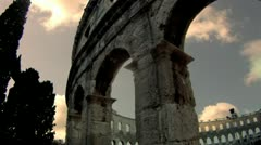 Roman Amphitheater in Pula, Croatia - Timelapse HD 2 Stock Footage