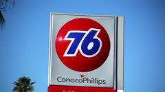 76 Gas Station Sign 01 HD Stock Footage