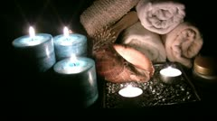 Relaxation and wellness background Stock Footage