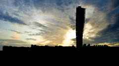 Sweden The Turning Torso late afternoon Stock Footage