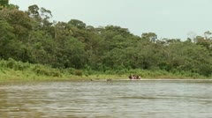 Canoe On Amazon River Stock Footage