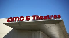 AMC Theatres Sign 01 HD Stock Footage