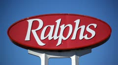 Ralph's Sign 01 HD Stock Footage