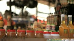 275 Olive oil stand at the Market Stock Footage