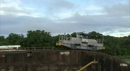 Stock Video Footage of Mules at the Gatun Lock in Panama Canal