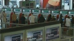 Train ticket machine at Termini station, Rome Stock Footage