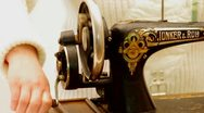 An old sewing machine Stock Footage