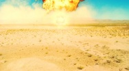 Stock Video Footage of nuke nuclear explosion armageddon explode terror area 51 Fire bomb War Atomic