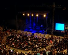 Amphitheater- live show-long shot Stock Footage