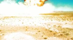 Nuke nuclear explosion armageddon explode terror area 51 Fire bomb War Atomic Stock Footage