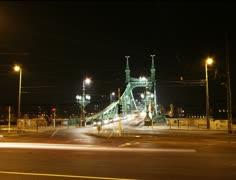 4K European City Budapest Hungary At Night Timelapse 11 Stock Footage