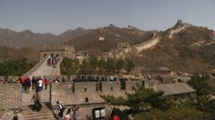 Time-lapse great wall china Stock Footage