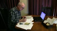man, taxes, - stock footage