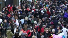 The crowd, editorial Stock Footage