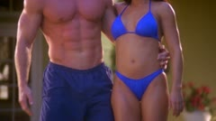 BODY COUPLE1 POSES 01 - stock footage