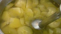 Mashed potatoes - stock footage