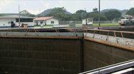 Stock Video Footage of Opening Lock in Panama Canal