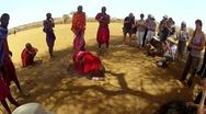 Stock Video Footage of Maasai starts fire